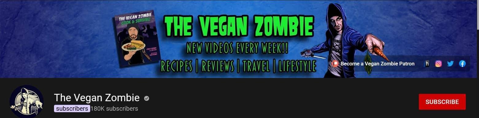 The Vegan Zombie أفضل قنوات النباتية