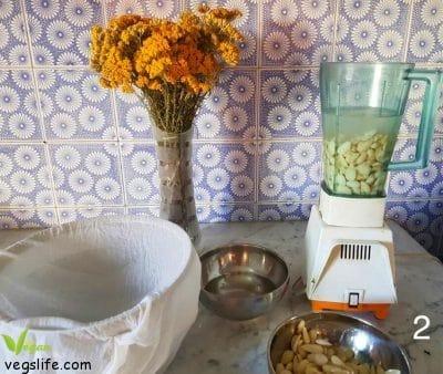 طريقة تحضير حليب اللوز الشهي حليب اللوز • حياة نباتية موقع ملتقى النباتيين، حياة نباتية من أجل الحيوان الانسان البيئة والسلام